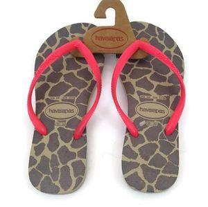 Havaianas Women's Flip-Flop Sandals Animals Print